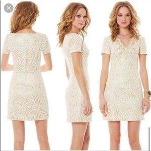 NWT Lilly Pulitzer Milannia Gold Shift Dress